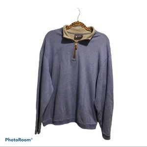 Daniel Cremieux blue sweatshirt with padded elbows